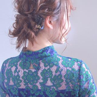 外国人風カラー ヘアアレンジ ロング 成人式 ヘアスタイルや髪型の写真・画像