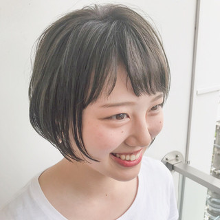 小顔 大人女子 大人かわいい ショートボブ ヘアスタイルや髪型の写真・画像