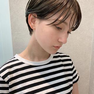 パーマ オフィス 成人式 ショート ヘアスタイルや髪型の写真・画像