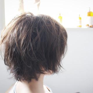 ボブ ブルーアッシュ ブルージュ ナチュラル ヘアスタイルや髪型の写真・画像