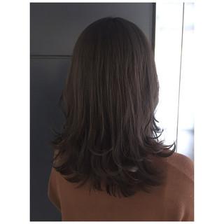 ラベンダーアッシュ くすみカラー ミディアム アッシュグレー ヘアスタイルや髪型の写真・画像