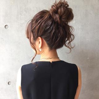 簡単ヘアアレンジ 上品 エレガント 夏 ヘアスタイルや髪型の写真・画像