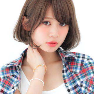 パーマ 色気 ヘアアレンジ ボブ ヘアスタイルや髪型の写真・画像