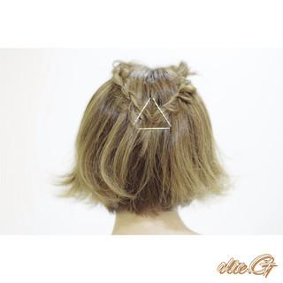 ヘアアレンジ 二次会 簡単ヘアアレンジ ショート ヘアスタイルや髪型の写真・画像 ヘアスタイルや髪型の写真・画像