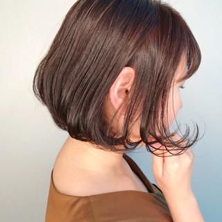 ラベンダーピンク ナチュラル バレンタイン ボブ ヘアスタイルや髪型の写真・画像