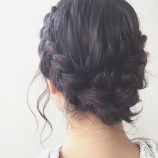 ヘアアレンジ ショート ミディアム 結婚式 ヘアスタイルや髪型の写真・画像 ヘアスタイルや髪型の写真・画像