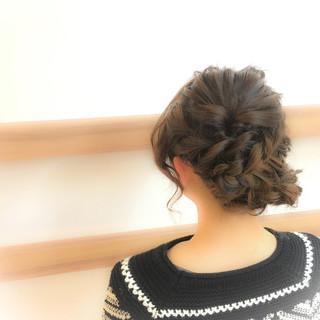 アップスタイル 簡単ヘアアレンジ ルーズ セミロング ヘアスタイルや髪型の写真・画像
