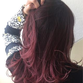 セミロング ラベンダー 外国人風カラー ハイトーン ヘアスタイルや髪型の写真・画像