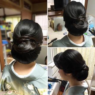 着物 アップスタイル エレガント 結婚式 ヘアスタイルや髪型の写真・画像 ヘアスタイルや髪型の写真・画像