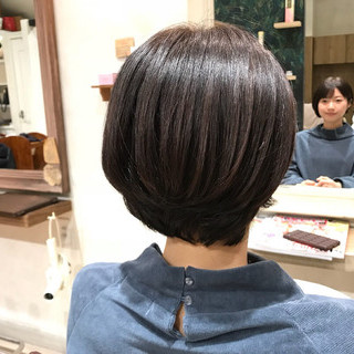 似合わせ 小顔 大人女子 ボブ ヘアスタイルや髪型の写真・画像