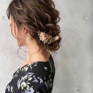 大人女子 大人かわいい ヘアアレンジ セミロング ヘアスタイルや髪型の写真・画像