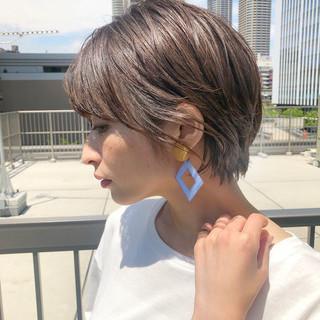 ショートヘア デート ショート ショートボブ ヘアスタイルや髪型の写真・画像
