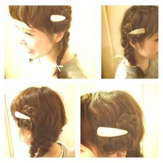 フェミニン 簡単ヘアアレンジ ショート ゆるふわ ヘアスタイルや髪型の写真・画像 ヘアスタイルや髪型の写真・画像