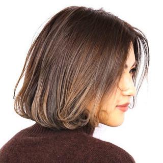 ボブ 秋冬スタイル 大人可愛い お洒落 ヘアスタイルや髪型の写真・画像
