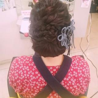 着物 お祭り 和装 ゆるふわ ヘアスタイルや髪型の写真・画像 ヘアスタイルや髪型の写真・画像