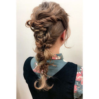 外国人風 ショート 簡単ヘアアレンジ 夏 ヘアスタイルや髪型の写真・画像
