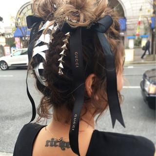ヘアアレンジ アップスタイル ストリート ボブ ヘアスタイルや髪型の写真・画像 ヘアスタイルや髪型の写真・画像