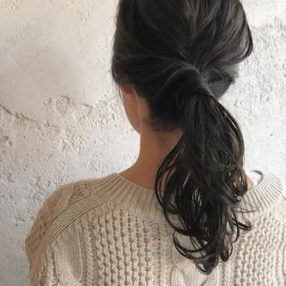 外国人風 ミント ヘアアレンジ セミロング ヘアスタイルや髪型の写真・画像