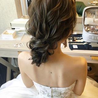 結婚式ヘアアレンジ おしゃれさんと繋がりたい セミロング 大人かわいい ヘアスタイルや髪型の写真・画像