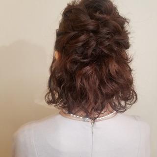 結婚式ヘアアレンジ エレガント 結婚式 ボブ ヘアスタイルや髪型の写真・画像
