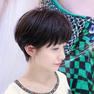 レイヤー ショート パーマ 大人かわいい ヘアスタイルや髪型の写真・画像