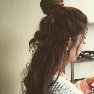 渋谷系 ヘアアレンジ 外国人風 ルーズ ヘアスタイルや髪型の写真・画像