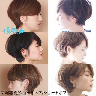 耳掛けショート ショートボブ マッシュショート ショート ヘアスタイルや髪型の写真・画像