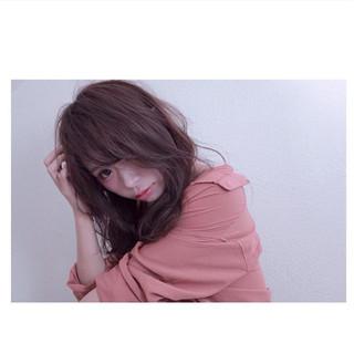 おフェロ イルミナカラー 色気 セミロング ヘアスタイルや髪型の写真・画像