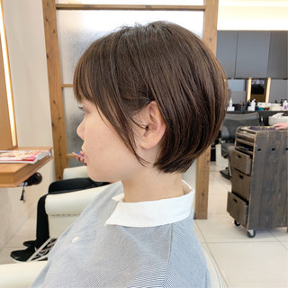 ハンサムショート ナチュラル ふんわり ヘアスタイルや髪型の写真・画像