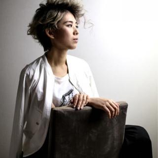 ハイトーン 透明感 ショート ゆるふわ ヘアスタイルや髪型の写真・画像