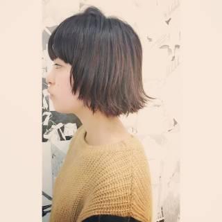 ストリート ボブ 黒髪 ショートボブ ヘアスタイルや髪型の写真・画像 ヘアスタイルや髪型の写真・画像