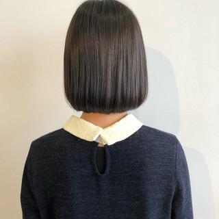 ボブ グレージュ ショートボブ ショート ヘアスタイルや髪型の写真・画像