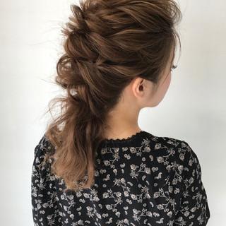 結婚式 セミロング ヘアアレンジ 女子会 ヘアスタイルや髪型の写真・画像 ヘアスタイルや髪型の写真・画像