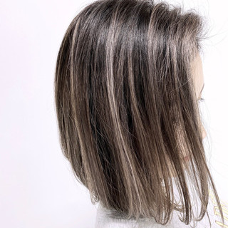 グラデーションカラー ナチュラル バレイヤージュ 外国人風カラー ヘアスタイルや髪型の写真・画像
