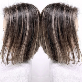 グラデーションカラー ナチュラル バレイヤージュ 外国人風カラー ヘアスタイルや髪型の写真・画像 | 東城 John / ALIVE 表参道