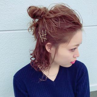 モード アッシュ 巻き髪 ヘアアレンジ ヘアスタイルや髪型の写真・画像