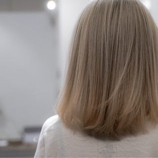 ゆるふわ アッシュ ボブ グラデーションカラー ヘアスタイルや髪型の写真・画像