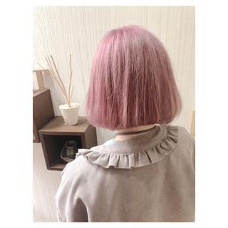 冬 秋 ピンク デート ヘアスタイルや髪型の写真・画像