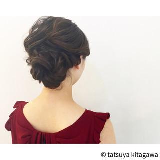 結婚式 ヘアアレンジ 外国人風 セミロング ヘアスタイルや髪型の写真・画像