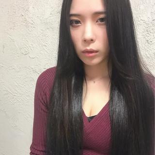 黒髪 ロング 大人女子 こなれ感 ヘアスタイルや髪型の写真・画像