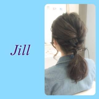 黒髪 ショート ヘアアレンジ ポニーテール ヘアスタイルや髪型の写真・画像