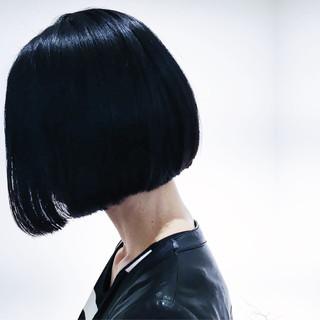 モード 黒髪 ナチュラル 暗髪 ヘアスタイルや髪型の写真・画像