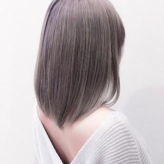 外国人風カラー ミルクティー ストリート ハイトーン ヘアスタイルや髪型の写真・画像