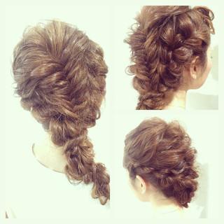 波ウェーブ ねじり ロング ヘアアレンジ ヘアスタイルや髪型の写真・画像