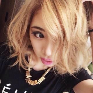 イエロー 外国人風 ストリート 渋谷系 ヘアスタイルや髪型の写真・画像