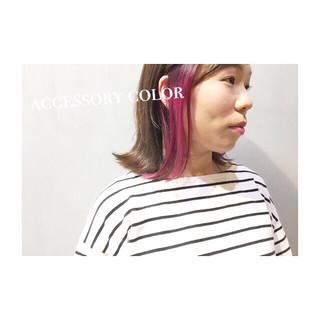 ナチュラル ベージュ アッシュ ピンク ヘアスタイルや髪型の写真・画像