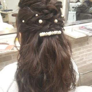 ナチュラル 愛され 結婚式 モテ髪 ヘアスタイルや髪型の写真・画像