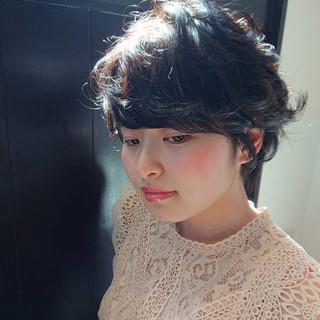 黒髪 デート ショート 前髪 ヘアスタイルや髪型の写真・画像 ヘアスタイルや髪型の写真・画像