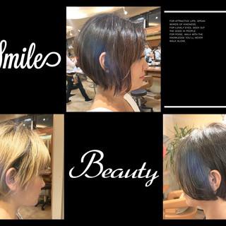 ショートボブ ナチュラル ショート 艶髪 ヘアスタイルや髪型の写真・画像