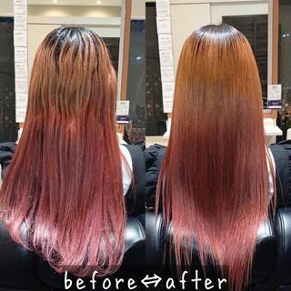 美髪 髪質改善トリートメント 縮毛矯正 ナチュラル ヘアスタイルや髪型の写真・画像